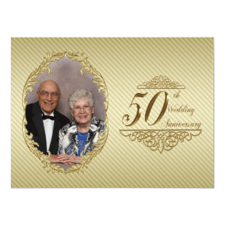 "50th Wedding Anniversary Photo Invitation Card 6.5"" X 8.75"" Invitation Card"