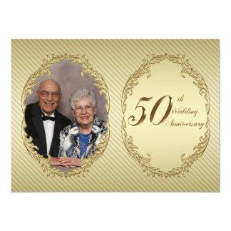 "50th Wedding Anniversary Photo Invitation Card 5.5"" X 7.5"" Invitation Card"