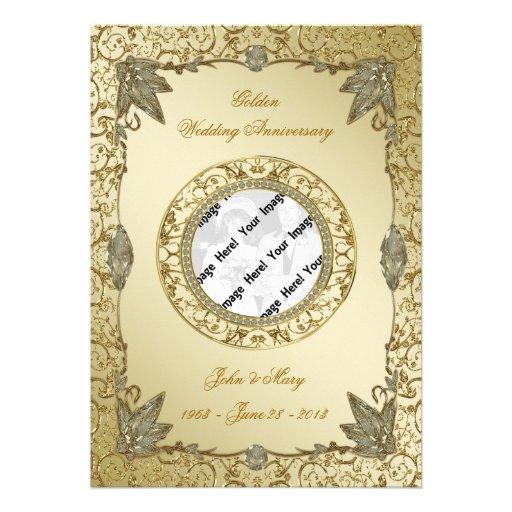 Th wedding anniversary photo invitation card quot