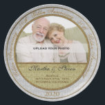"50th Wedding Anniversary Photo Plate<br><div class=""desc"">Upload a photo of the anniversary couple,  add their name and the year of their 50th anniversary for a lovely gift they will cherish. You can even add where they were married or a personal message. This is a wonderful keepsake that can be hung as collector plates would be.</div>"