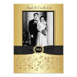 50th Wedding Anniversary Photo Template Invite
