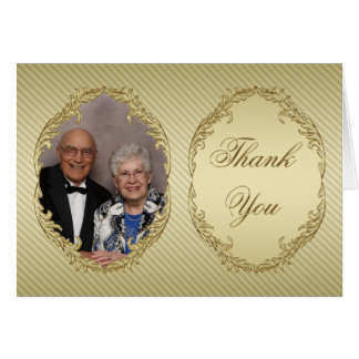 50th Wedding Anniversary Photo Thank You Note Card