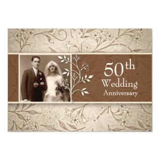 50th wedding anniversary photo vintage invitations