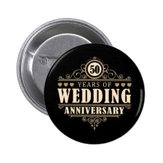 50th Wedding Anniversary Pinback Button