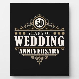 50th Wedding Anniversary Plaque