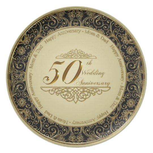 50th Wedding Anniversary Gift Etiquette: 50th Wedding Anniversary Plate