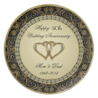 50th Wedding Anniversary Plate at Zazzle