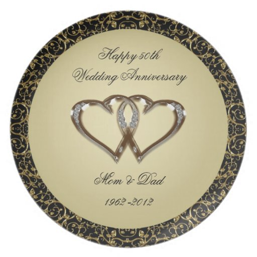 50th wedding anniversary plate zazzle for What is 50th wedding anniversary