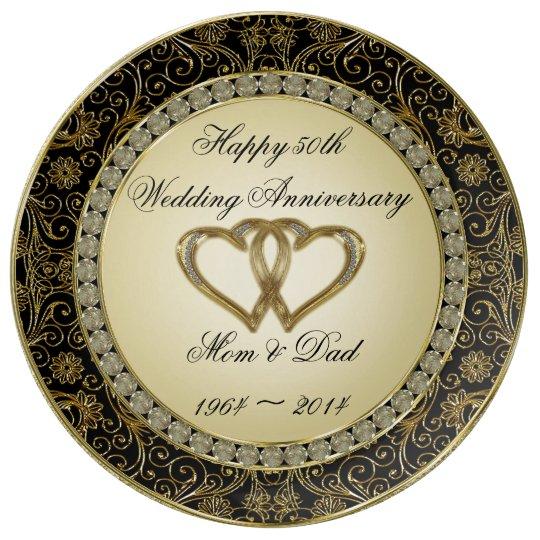 50th Wedding Anniversary Gift Etiquette: 50th Wedding Anniversary Porcelain Plate