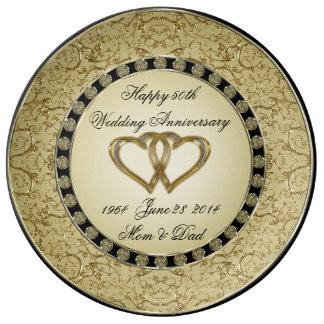 50th Wedding Anniversary Porcelain Plate