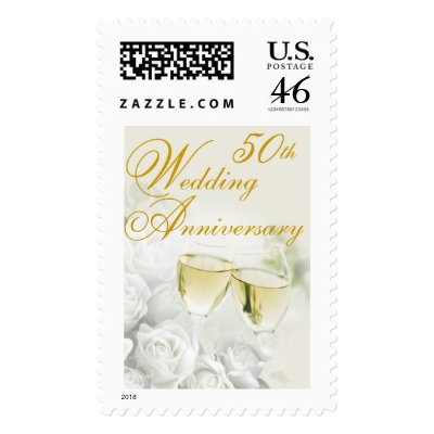 50th Wedding Anniversary Postage Stamp by SquirrelHugger