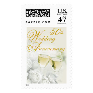 50th Wedding Anniversary Postage Stamp
