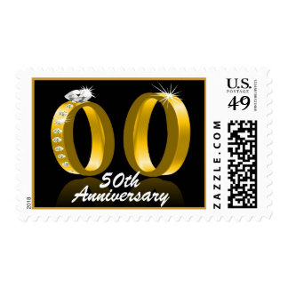 50th Wedding Anniversary Postage Stamps