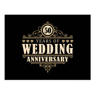 50th Wedding Anniversary Postcard