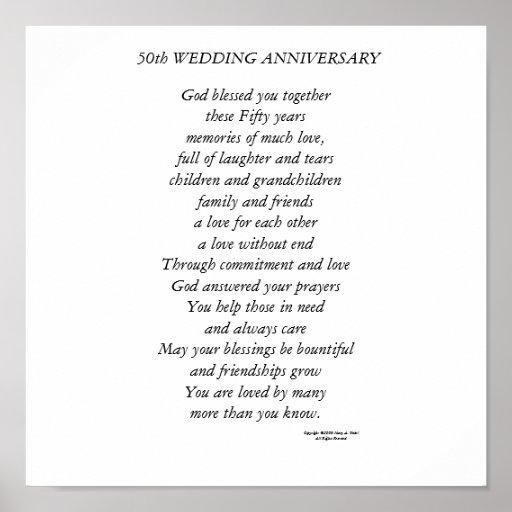 50th Wedding Anniversary Print | Zazzle
