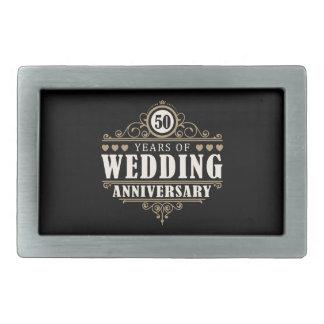 50th Wedding Anniversary Rectangular Belt Buckle