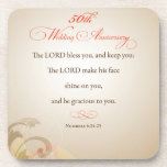 50th Wedding Anniversary, Religious Lord Bless Coaster