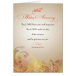 50th Wedding Anniversary, Religious Lord Bless & K Greeting Card