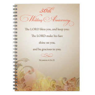 50th wedding anniversary religious lord bless notebook