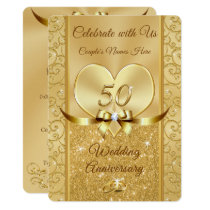 50th Wedding Anniversary Renewal Vows Invitations