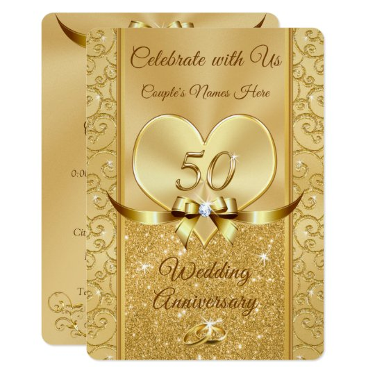 50th Wedding Anniversary Renewal Vows Invitations Zazzle Com