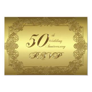 50th Wedding Anniversary RSVP Card