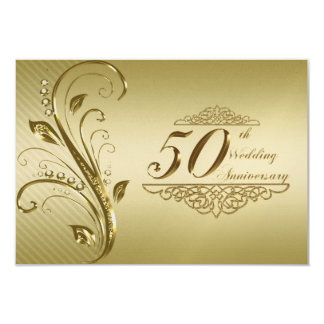 50th Wedding Anniversary RSVP Card Personalized Invitation