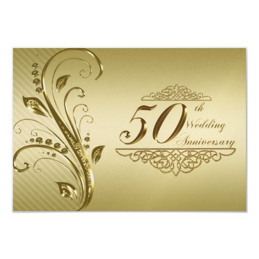 Th wedding anniversary rsvp card personalized invites