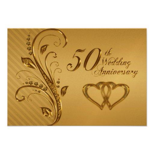 50th Wedding Anniversary RSVP Card Invitations