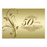 50th Wedding Anniversary RSVP Custom Invites