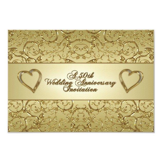 50th wedding anniversary rsvp invitation card zazzle