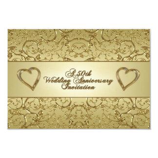 "50th Wedding Anniversary RSVP Invitation Card 3.5"" X 5"" Invitation Card"