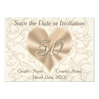 50th Wedding Anniversary Save the Date Cards