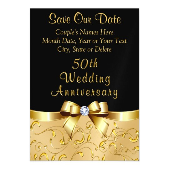 50th Wedding Anniversary Invitation Ideas: 50th Wedding Anniversary Save The Date Magnets