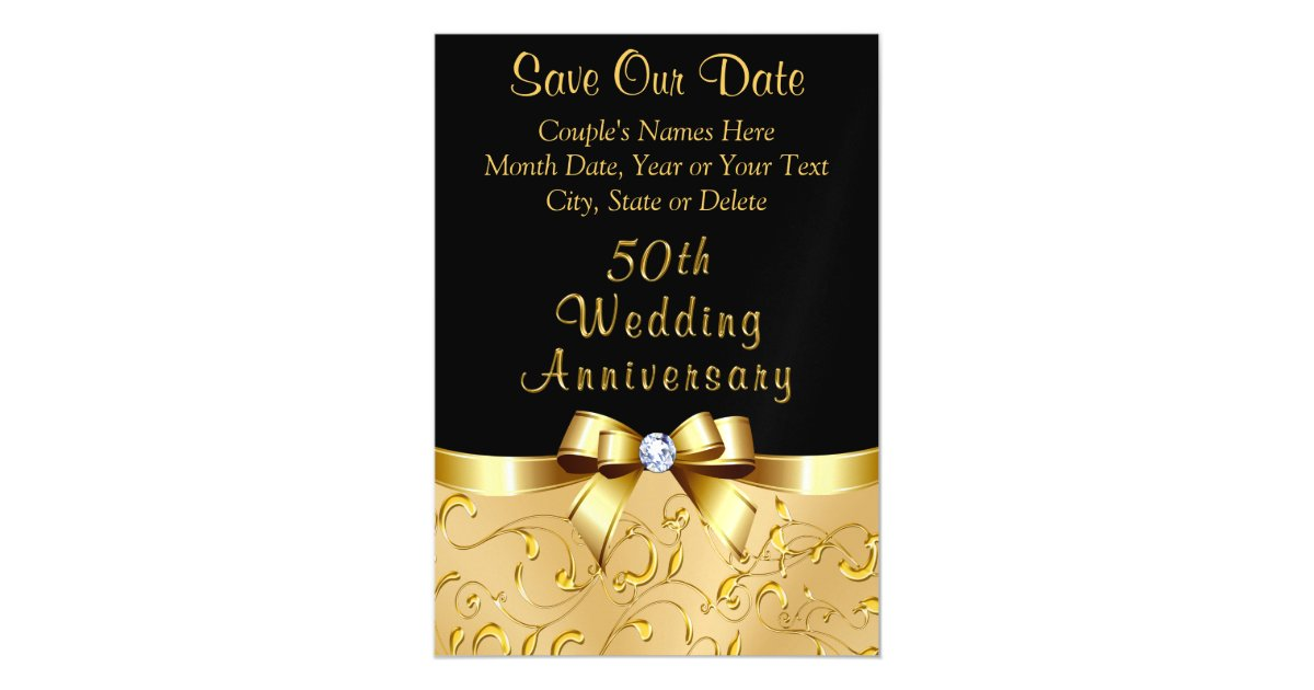50th Wedding Anniversary Save The Date Magnets Zazzle Com