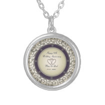 50th Wedding Anniversary Silver Plated Necklace