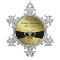 50th Wedding Anniversary Snowflake Ornament