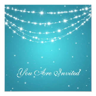 50th Wedding Anniversary Sparkling Chain Blue Card