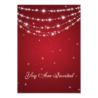 50th Wedding Anniversary Sparkling Chain Red Card