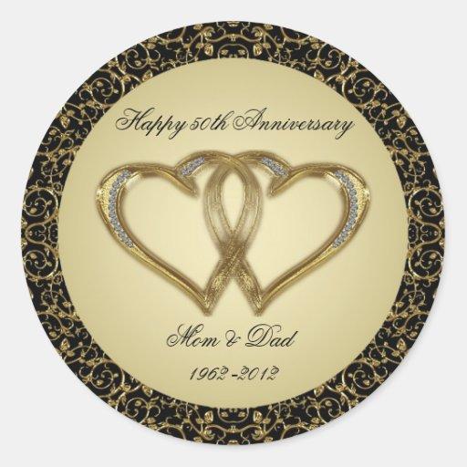 50th Wedding Anniversary Stickers