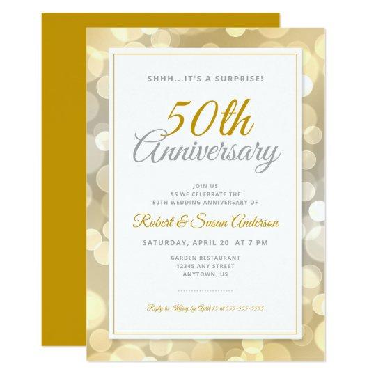 50th wedding anniversary surprise
