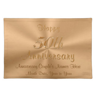 50th Wedding Anniversary Table Decoration Ideas Cloth Place Mat