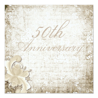 50th Wedding Anniversary Telemark Design Custom Card