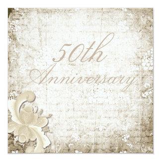 50th Wedding Anniversary Telemark Design 5.25x5.25 Square Paper Invitation Card