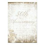 "50th Wedding Anniversary - ""Telemark"" 5"" X 7"" Invitation Card"