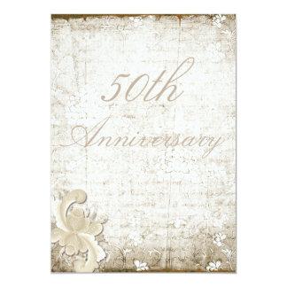 50th Wedding Anniversary Telemark Style Custom Card