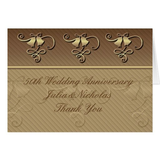 Thank You Notes For Wedding Anniversary Gifts : 50th Wedding Anniversary Thank You Card Zazzle