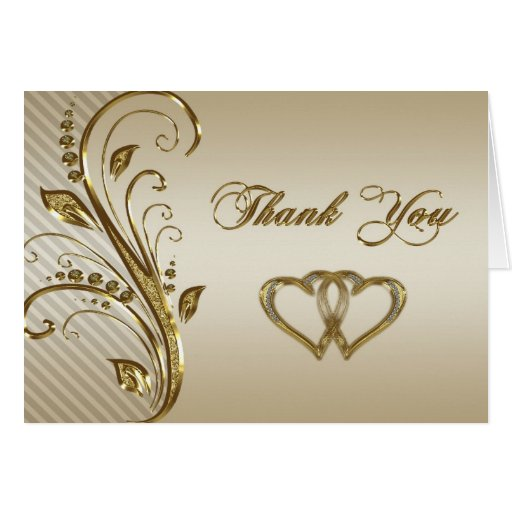 Thank You Notes For Wedding Anniversary Gifts : 50th Wedding Anniversary Thank You Note Card Zazzle