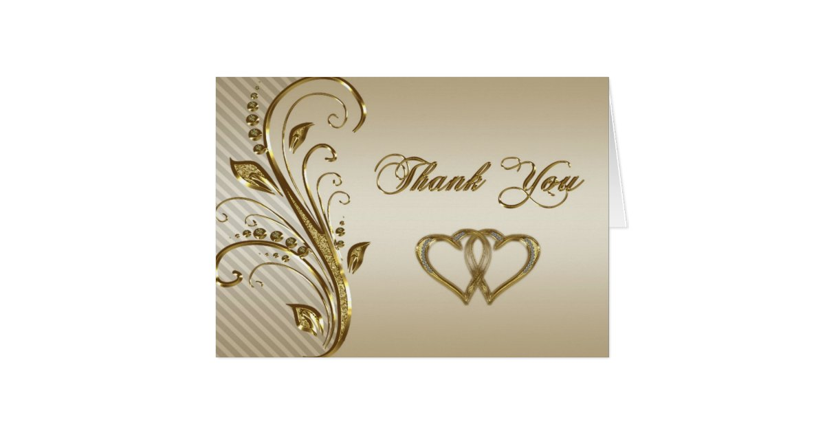 Th wedding anniversary thank you note card zazzle