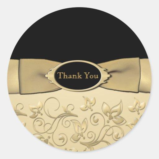 50th Wedding Anniversary Thank You Sticker